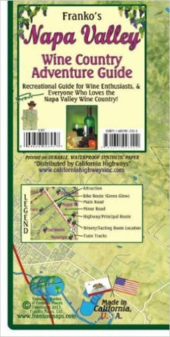 Buy map California Map, Napa Wine Country, folded, 2011 by Frankos Maps Ltd.