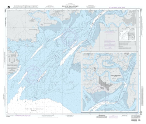 Buy map Bahia De San Lorenzo (NGA-21526-4) by National Geospatial-Intelligence Agency
