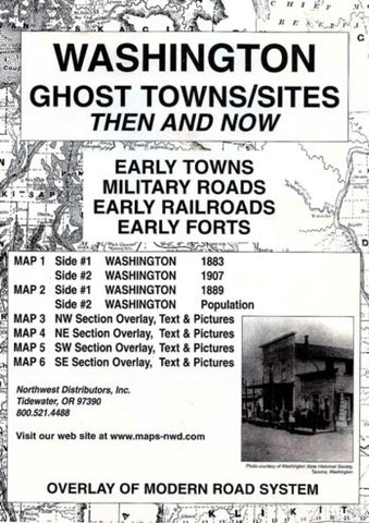 Buy map Washington, Ghost Towns, 6-Map Set, Then and Now by Northwest Distributors