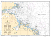 Buy map Approaches to/Approches a Hamilton Inlet by Canadian Hydrographic Service
