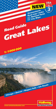 Buy map USA 3: Great Lakes by Hallwag