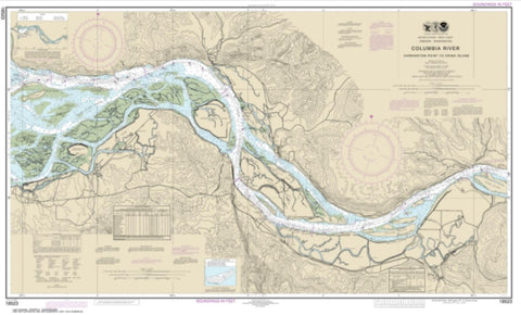 Buy map Columbia River Harrington Point to Crims Island (18523-58) by NOAA