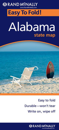 Buy map Alabama, Easy to Fold by Rand McNally