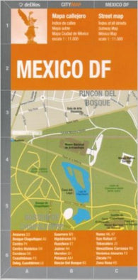 Buy map Mexico City, Mexico by deDios