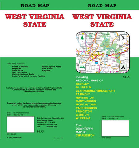 Buy map West Virginia by GM Johnson