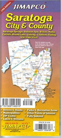 Buy map Saratoga, New York, City and County by Jimapco