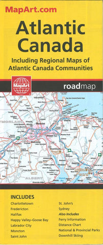 Buy map Atlantic Canada Road Map by Canadian Cartographics Corporation