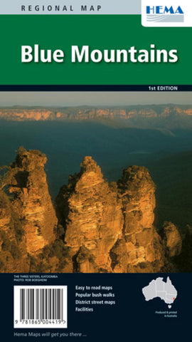 Buy map Blue Mountains National Park and Towns, Australia by Hema Maps