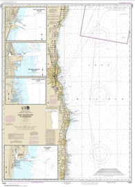 Buy map Port Washington to Waukegan; Kenosha; North Point Marina; Port Washington; Waukegan (14904-27) by NOAA