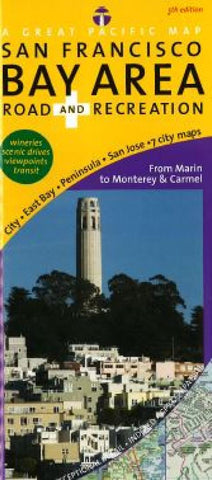 Buy map San Francisco Bay Area, Road and Recreation by Great Pacific Recreation & Travel Maps