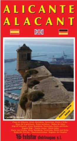 Buy map Alicante, Spain by Distrimapas Telstar, S.L.