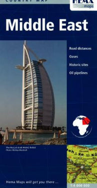 Buy map Middle East by Hema Maps