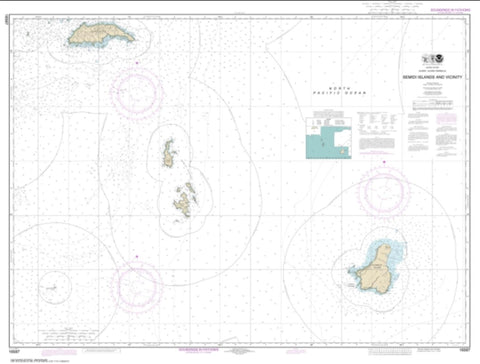 Buy map Semidi Islands and Vicinity (16587-3) by NOAA