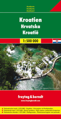 Buy map Croatia by Freytag-Berndt und Artaria