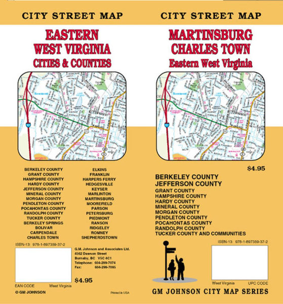 Buy map Martinsburg, Charles Town and Eastern West Virginia by GM Johnson