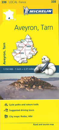 Buy map Michelin: Aveyron, Tarn, France Road and Tourist Map by Michelin Travel Partner