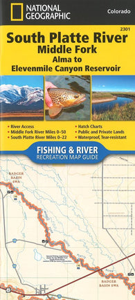 Buy map South Platte River, Middle Fork, CO (Map 2301) by National Geographic Maps