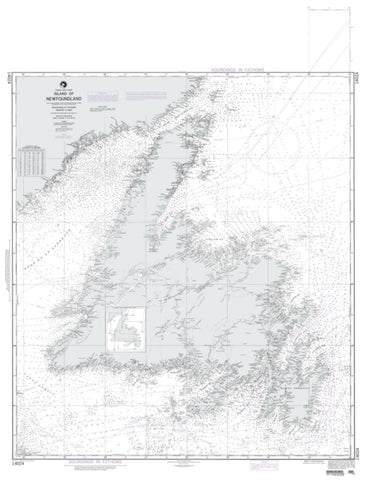 Buy map Island Of Newfoundland (NGA-14024-5) by National Geospatial-Intelligence Agency