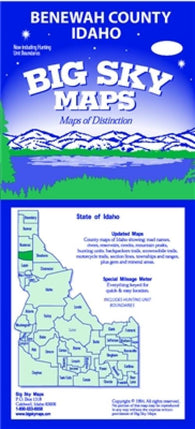 Buy map Benewah County, Idaho by Big Sky Maps
