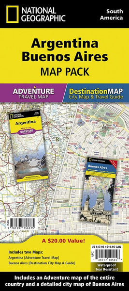 Buy map Argentina & Buenos Aires, Map Pack Bundle by National Geographic Maps