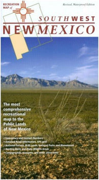 Buy map New Mexico, Southwest, Recreation Map by Public Lands Interpretive Association