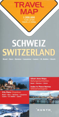 Buy map Switzerland Travel Map by Kunth Verlag