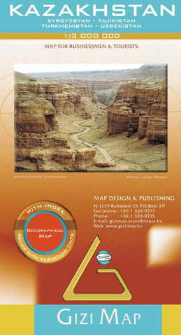 Buy map Kazakhstan Geographical Map by GiziMap