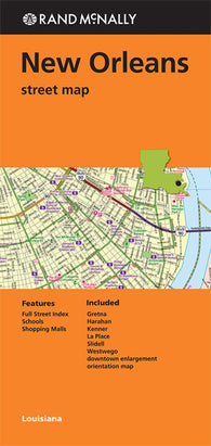Buy map New Orleans, Hammond and Slidell, Louisiana by Rand McNally