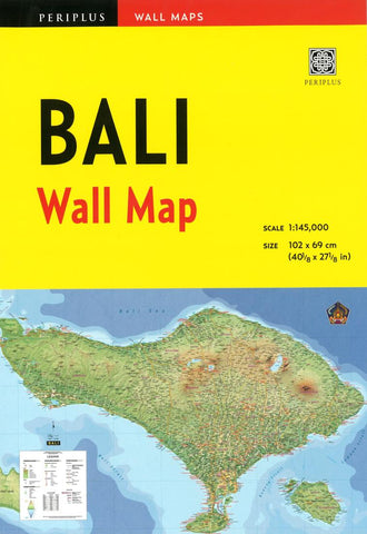 Buy map Bali Wall Map by Periplus Editions