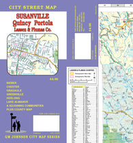 Buy map Susanville, Quincy, Portola and Lassen and Plumas Counties, California by GM Johnson