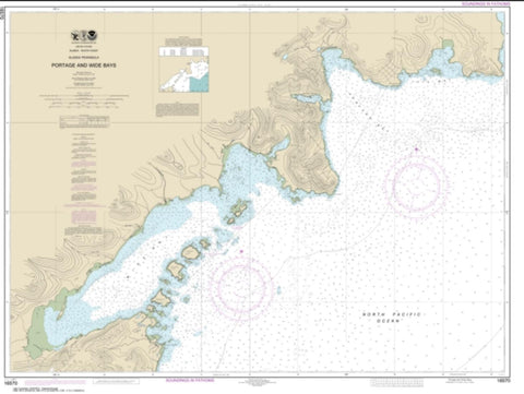 Buy map Portage and Wide Bays, Alaska Pen. (16570-12) by NOAA
