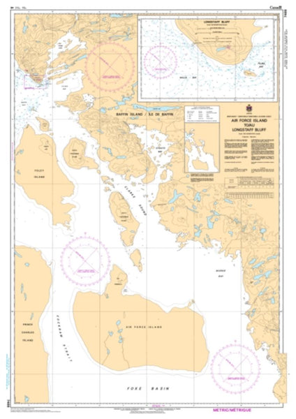 Buy map Air Force Island to/au Longstaff Bluff by Canadian Hydrographic Service