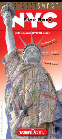 Buy map New York City Five Boro StreetSmart by VanDam