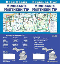 Buy map Michigan, Northern Tip, Back Roads by GM Johnson
