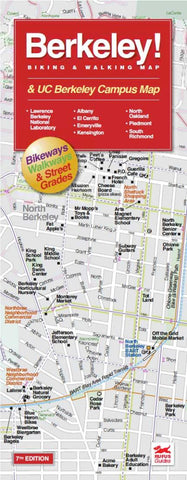 Buy map Berkeley, California Campus Area by Rufus Graphics
