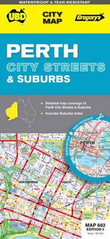 Buy map Perth City, Australia, Streets & Suburbs by Universal Publishers Pty Ltd