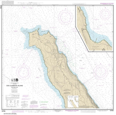 Buy map San Clemente lsland northern part; Wison Cove (18763-11) by NOAA