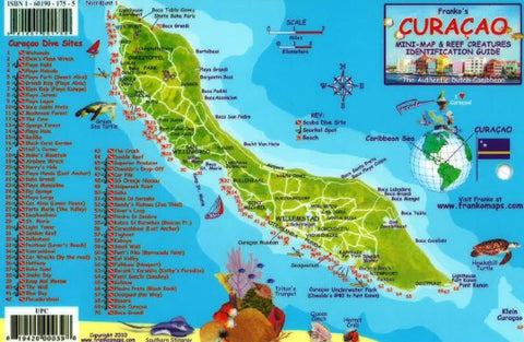 Buy map Caribbean Fish Card, Curacao 2010 by Frankos Maps Ltd.