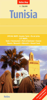 Buy map Tunisia by Nelles Verlag GmbH