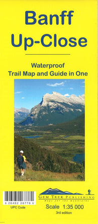 Buy map Banff, Up-Close Trail Map and Guide (waterproof) by Gem Trek