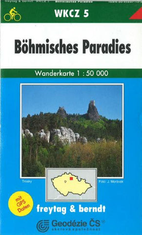 Buy map Bohmisches Paradies, WKCZ 5 by Freytag-Berndt und Artaria
