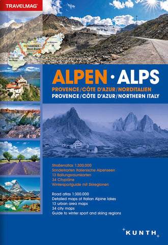 Buy map Alps, Provence, French Riviera, Northern Italy, Atlas Travelmag (Ger/Eng) by Kunth Verlag