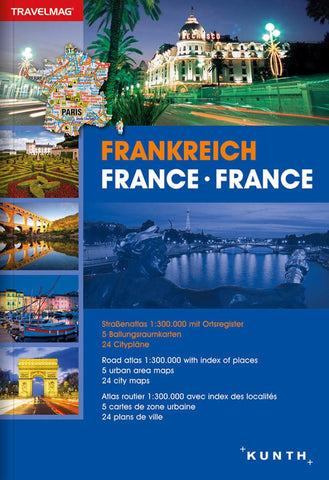 Buy map France, Road Atlas Travelmag (German, English, French ed) by Kunth Verlag