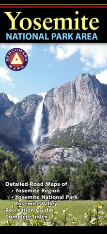 Buy map Yosemite National Park Area, Calfornia by Benchmark Maps
