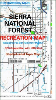 Buy map Sierra National Forest, California by Tom Harrison Maps