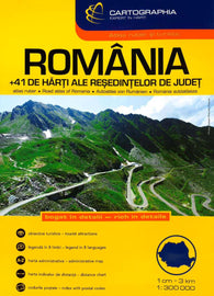 Buy map Romania, Road Atlas by Cartographia
