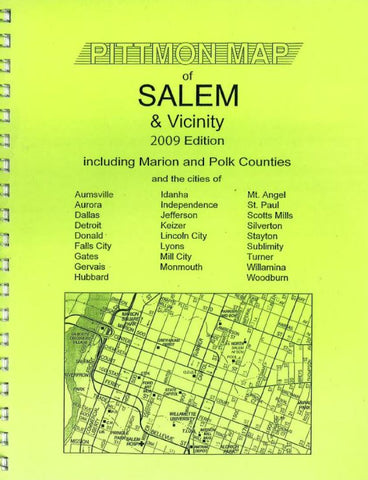 Buy map Salem and Marion County, Oregon Atlas by Pittmon Map Company