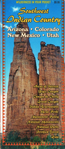 Buy map Indian Country of Arizona, Colorado, New Mexico and Utah by Global Graphics