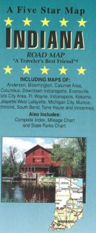 Buy map Indiana by Five Star Maps, Inc.