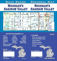 Buy map Michigan, Saginaw Valley, Back Roads by GM Johnson